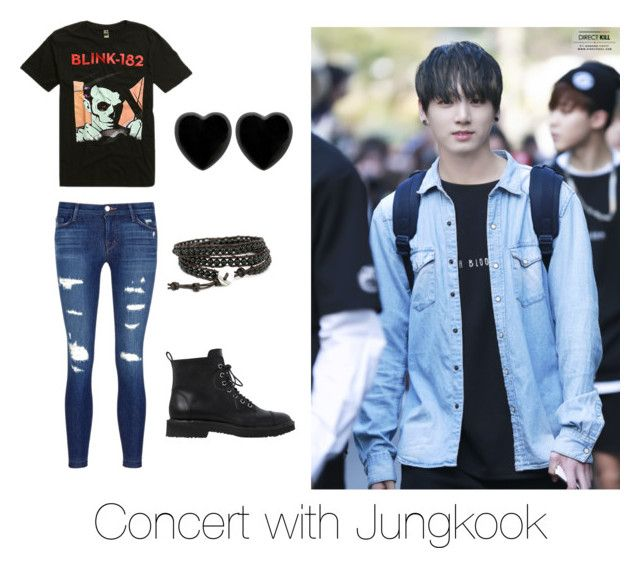 U0026quot;Concert with Jungkooku0026quot; by bts-outfit-imagines on Polyvore featuring J Brand Giuseppe Zanotti ...