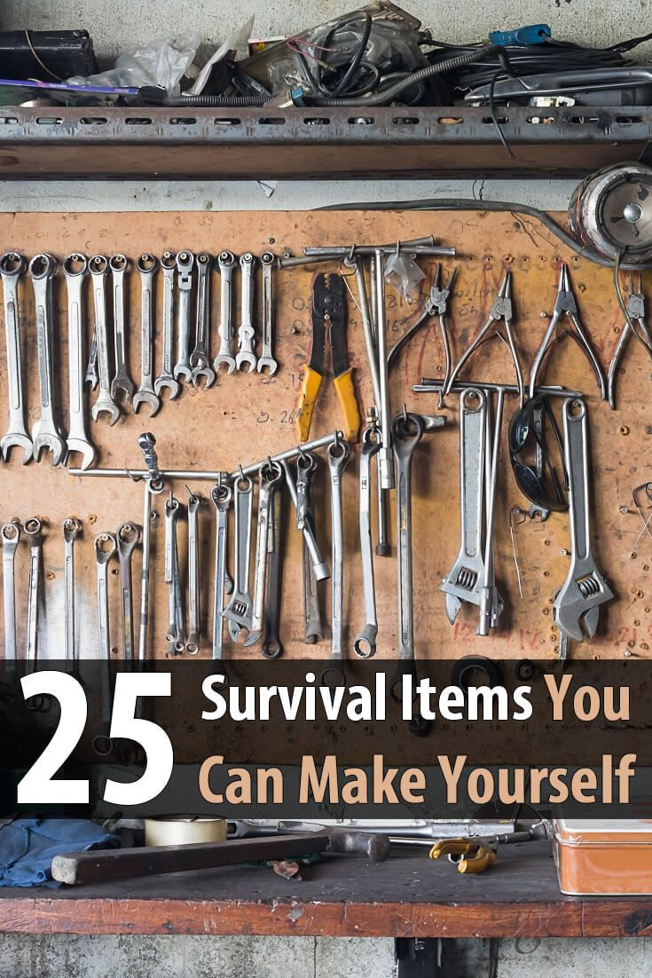 Learning to make your own survival items will save you money and make life easier after the SHTF. Here are 25 items that are easy to make.