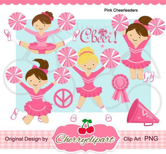 Rosa Cheerleader-Digital-Clipart-Set für - persönlichen und kommerziellen Gebrauch-Papier Handwerk, Karte, die Sie vornehmen, Scrapbooking, Web-design