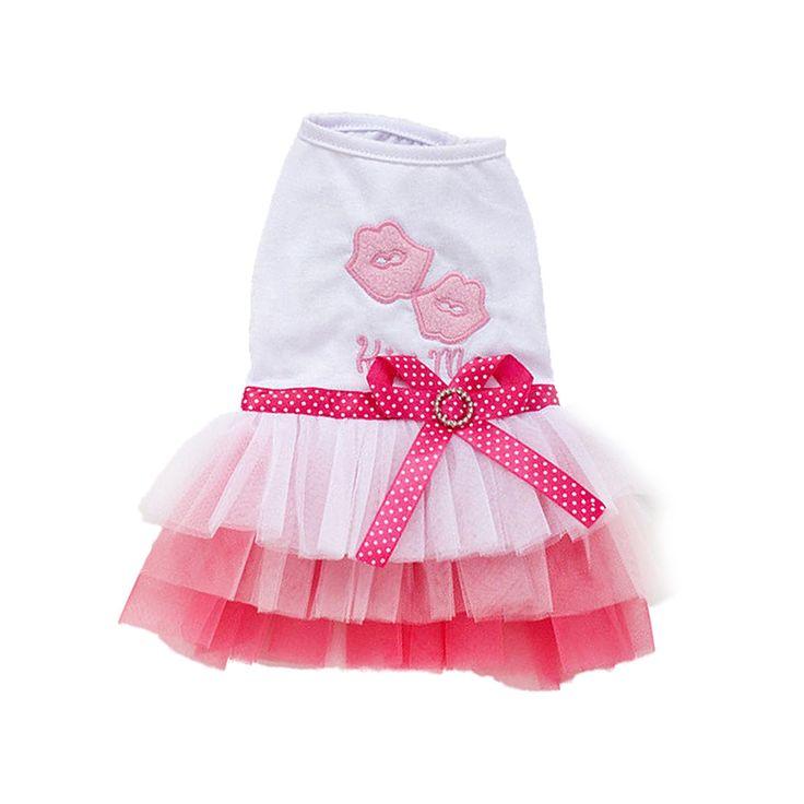 Practical Pet Puppy Small Dog Cat Lace Skirt Princess Tutu Dress Clothes Costume Apparel, Pink M