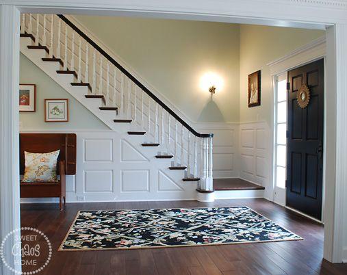 walls sherwin williams sea salt oak handrail sherwin. Black Bedroom Furniture Sets. Home Design Ideas