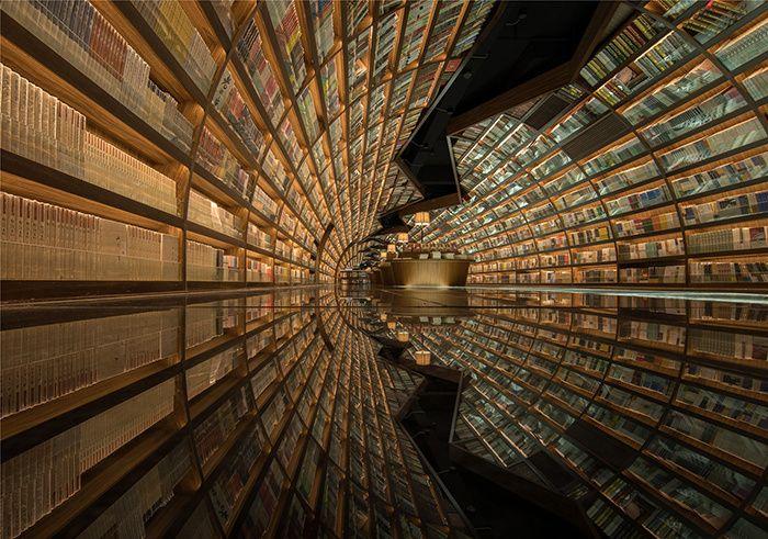 Bibliothèque de Yangzhou Zhonshuge en Chine