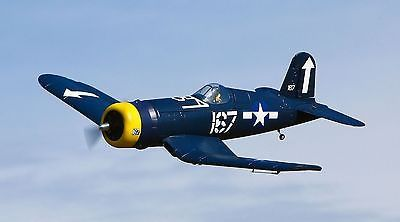 This is the Electric Powered, 2.4GHz Radio Controlled, Ready to Fly, Select Scale F4U Corsair from Flyzone. FEATURES: Construction: AeroCell foam, factory painted, molded-in panel lines Motor: Brushle