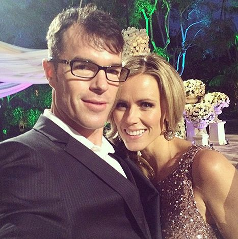 Trista Sutter and Ryan Sutter posed at Sean Lowe and Catherine Giudici's live TV Bachelor wedding