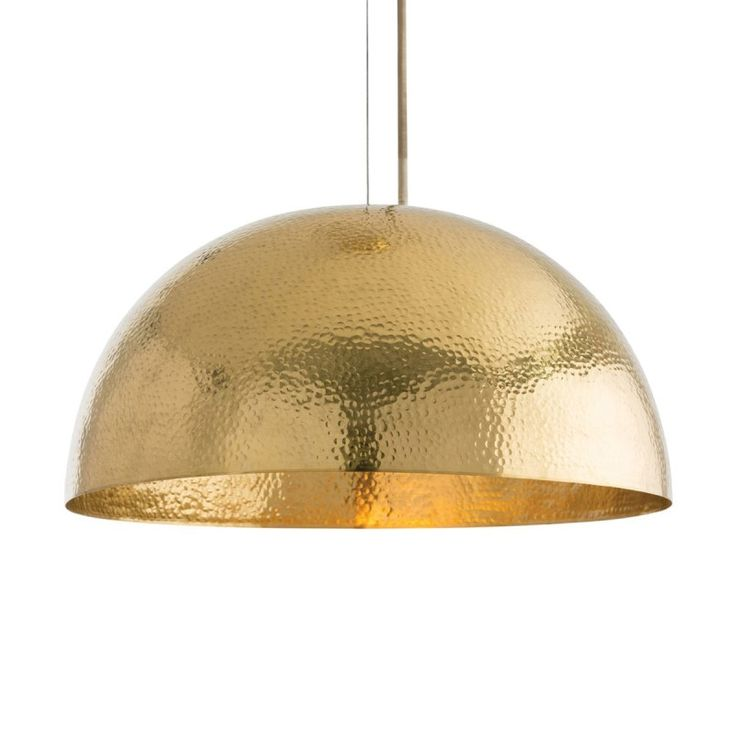 Chandelier Lamp Arteriors // Mambo Golden Brass Dome Pendant Light | Theme