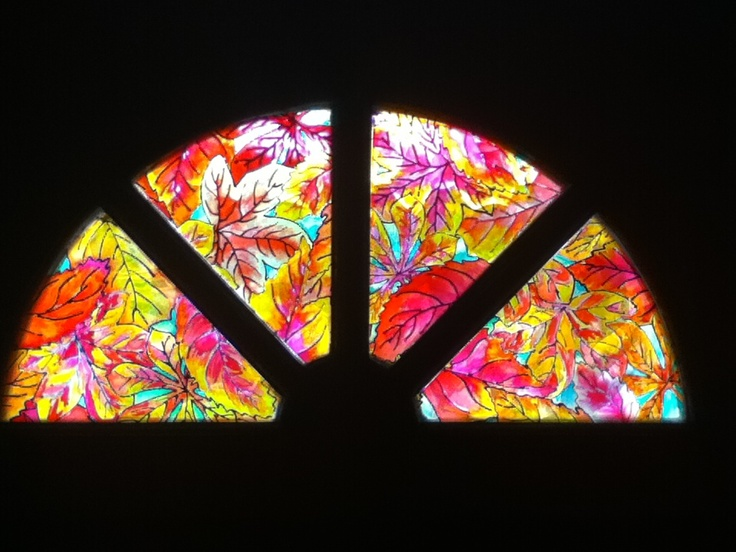 Diy stained glass window stickers