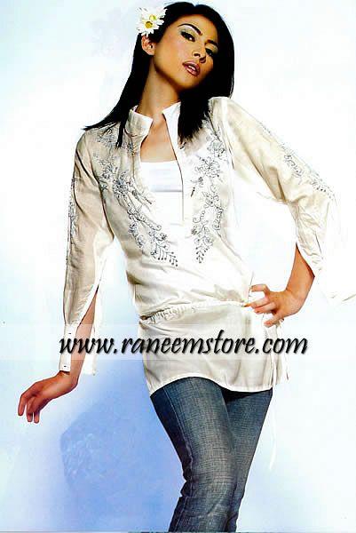 Design HER973, Product code: HER973, Casual Kurtis, Pakistani Designer Kurtis, Summer Kurti Tops, Cotton Kurti Tops