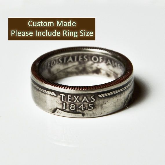 Dave's Wedding band??? ;) Texas Quarter Ring by TheRingTree on Etsy, $29.50