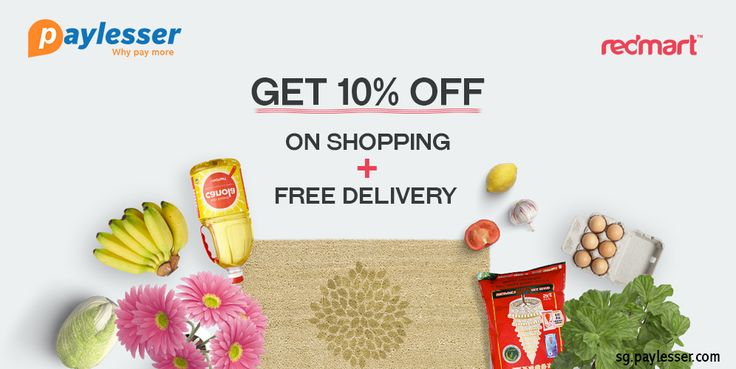 Enjoy full of your shopping with #REDMART- get 10% OFF + Free delivery on this coupon. Why Pay more?