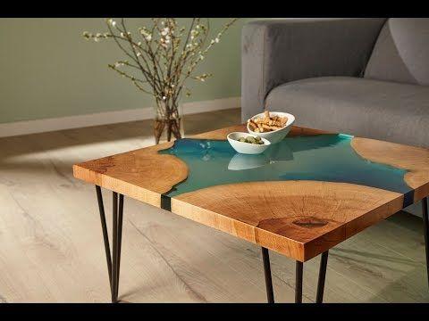Epoxidharz-Tisch selbst gebaut! Hier erfahren Sie, wie Sie einen Designertisch a…