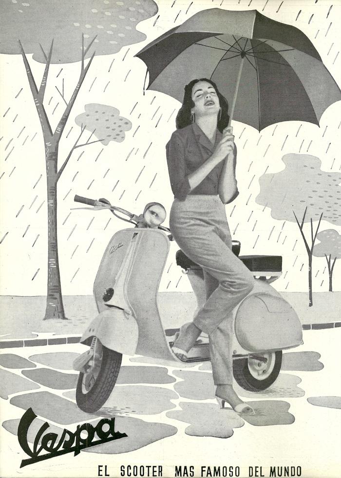 Vespa in the rain