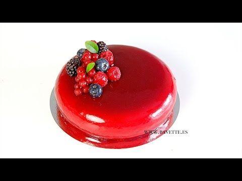 Glaseado espejo de frambuesas y arándanos (sin colorante) - Bavette