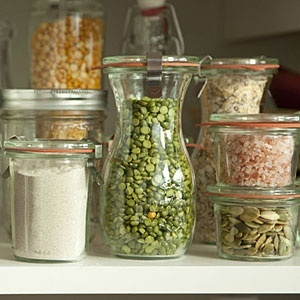 To Organize: storing bulk items in Weck jars