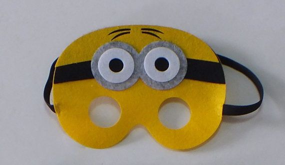Minion Party Favors, Minion Cape, Minion Birthday Party Favors, Minion Favors, Minion Birthday, Minion Mask This listing is for Minion masks. You can use the drop down to select how many masks you need. Machine or hand wash in cold water and dry on delicate. Please DO NOT use fabric softener. Iron as needed, but not directly on applique.  If you need only a few masks check out this listing. These make great party favors for your next superhero party. If you need more then one check out my…