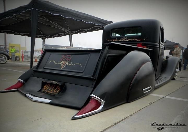 Sweet custom fabrication and bodywork... I dig the taillights.