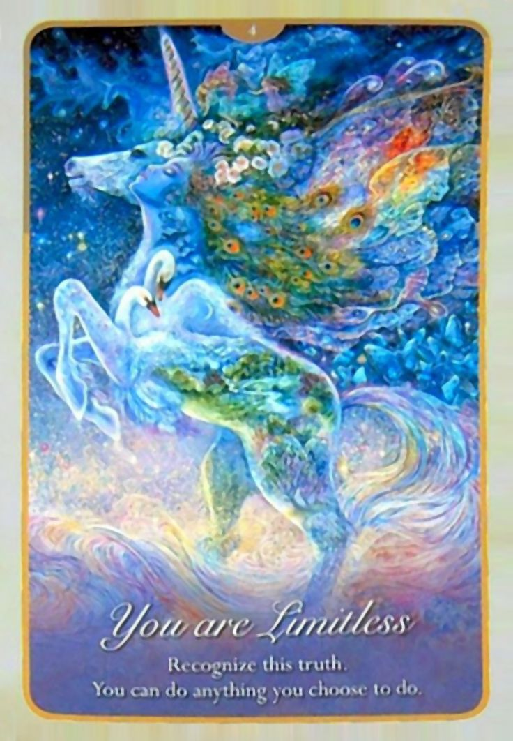 """""""4 You are Limitless 2"""" Oracle Cards Whispers of Love par Josephine Wall and Angela Hartfield"""