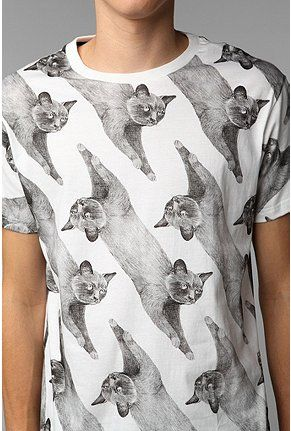 Your Eyes Lie Allover Cats Tee