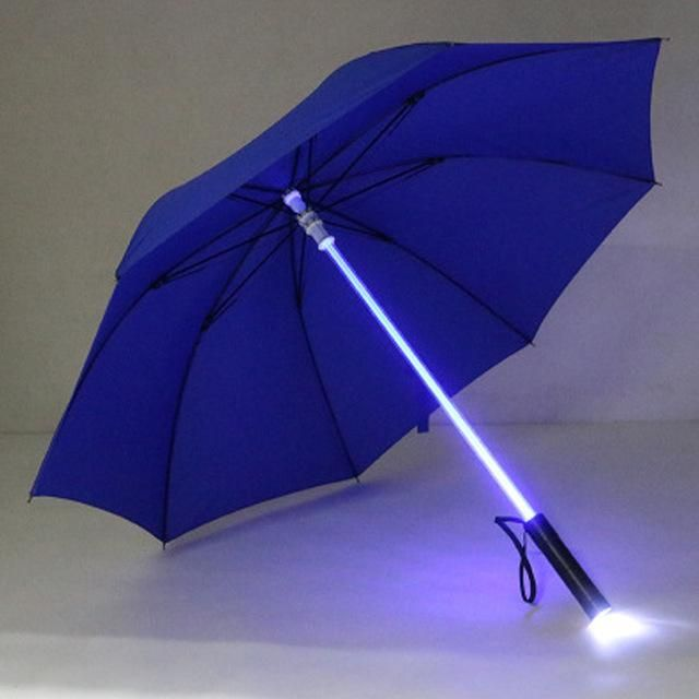 NEW Star Wars Official Light up Lightsaber Umbrella with Torch Handle Red//Blue
