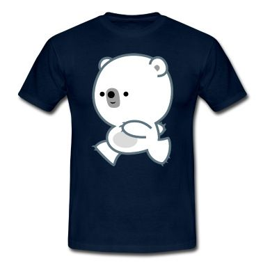 Cute Running Polar Bear Cub by Cheerful Madness!! T-Shirt | Spreadshirt | ID: 25214490 #cheerfulmadness #tshirts #tees #polar #bear #spreadshirt #customizable #UK #kawaii #cartoon #animation #comics