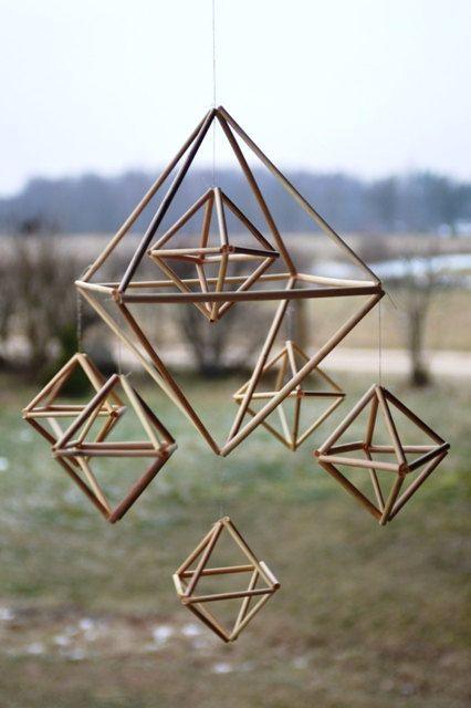 Kit de bricolage Himmeli * Mobile suspendu * décoration minimaliste