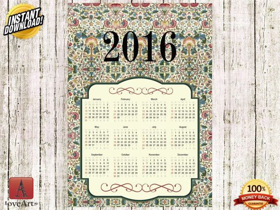 Hey, I found this really awesome Etsy listing at https://www.etsy.com/listing/257052941/instant-download-calendar-2016-william