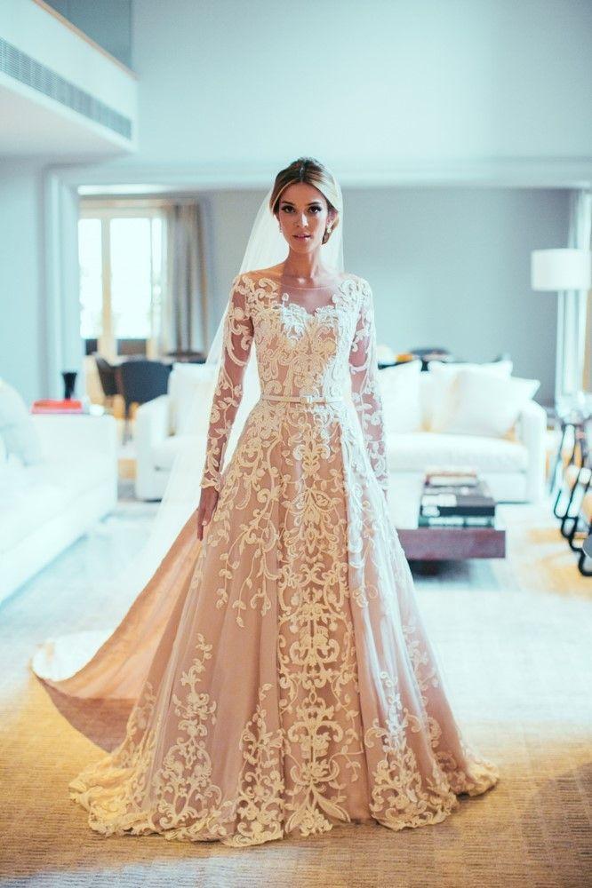 Casamento Paula Drumond & Bruno Setubal Vestido de noiva