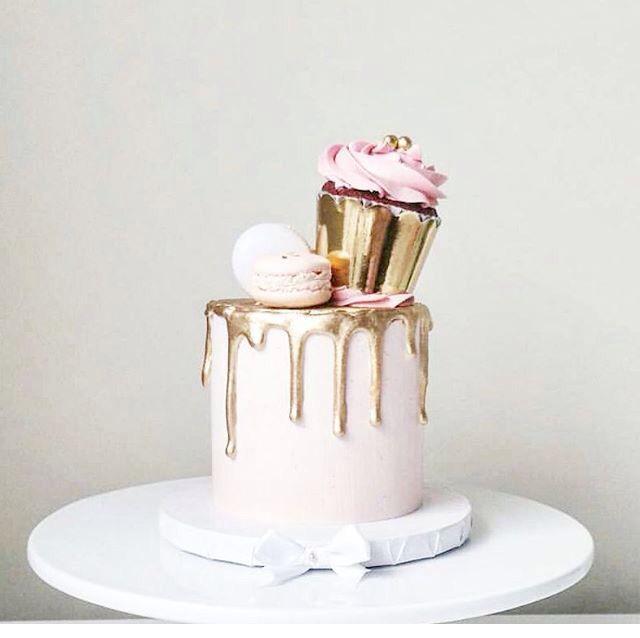 Pink & Gold princess cake