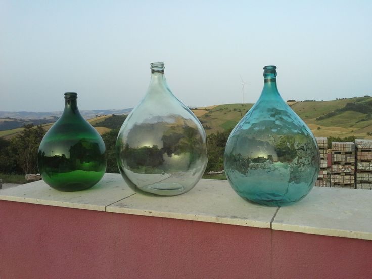 Set of 3 antique carboys - Italian demijohn di DemijohnItalian su Etsy