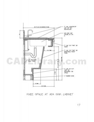 Knee Space At Ada Sink Cabinet 2d Cad Symbols Library