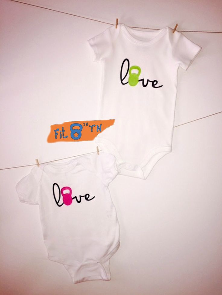 Crossfit Baby LOVE with a kettlebell Onesie Romper or T-shirt by FitInTN on Etsy https://www.etsy.com/listing/234223703/crossfit-baby-love-with-a-kettlebell