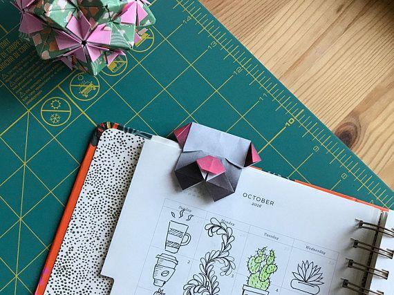 Origami Bulldog Bookmark/Paper bookmark/back to school