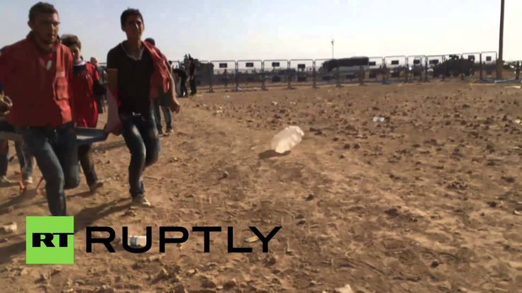 Turkey: Boys injured in land-mine blast rushed through Syrian border *GR...