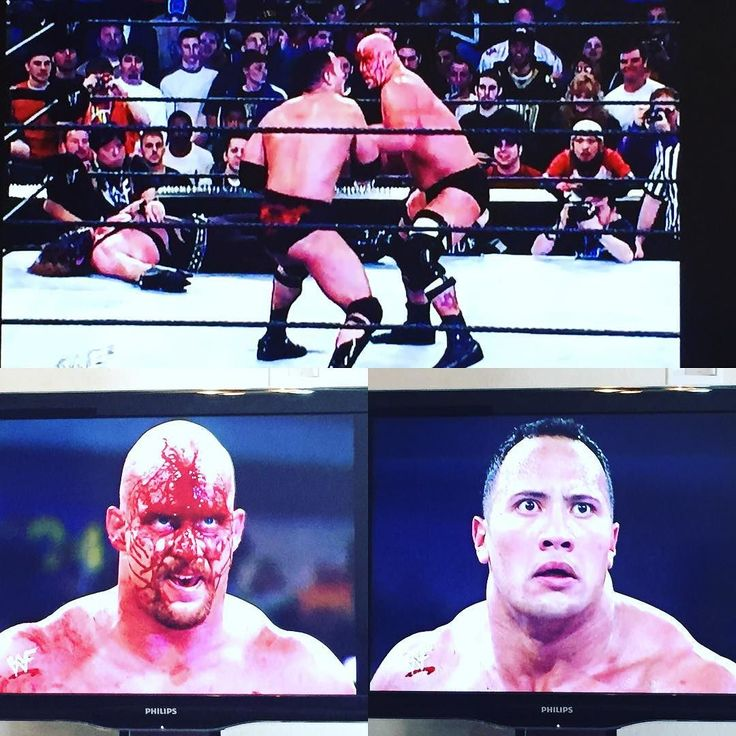 One of the greatest moments in #WWE history... 2001 Royal Rumble Rock and Stone Cold going toe to toe. #wwf #RoyalRumble