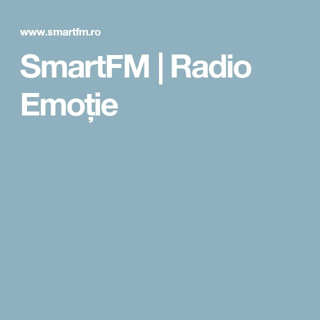 SmartFM   Radio Emoție