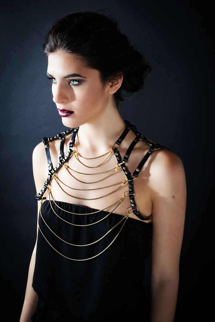 The Vintage, leather harness. The perfect statement piece. Instagram @ hoda