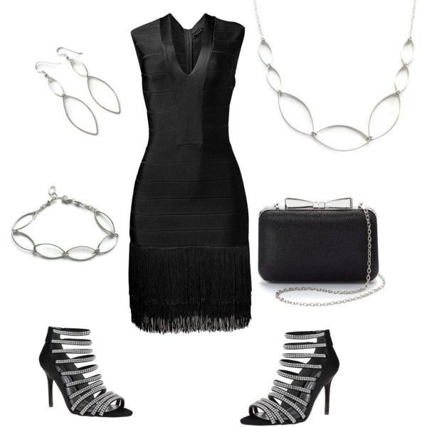 Little black dress and statement jewelry. Fashion for Summer wedding and parties