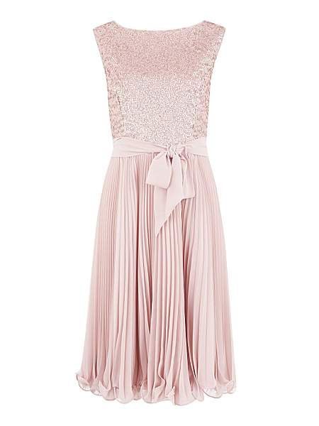Beaded bodice prom dress