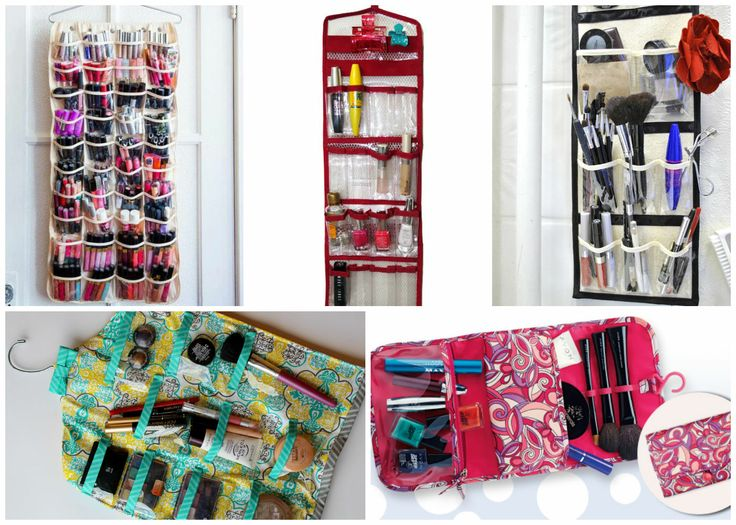 Simple ideas to store your #makeup products -Wall organizers. #beauty #skincare #storage #decor