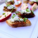 Two Super Simple Appetizers | The Pioneer Woman Cooks - fig/blue cheese crustini and cream cheese sweet peppers