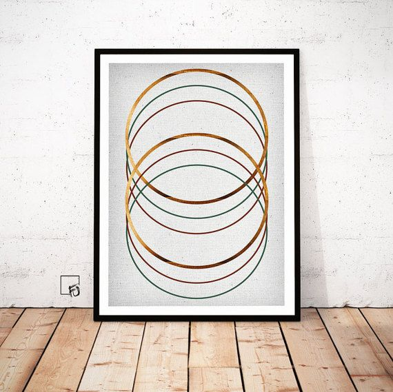 Rings print Copper Wall Art Copper Print abstract poster