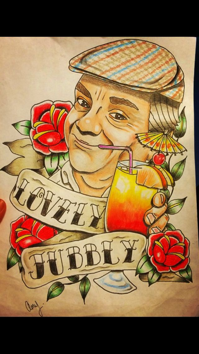 Derek Del Boy Trotter only fools and horses tattoo design by Amy roulette