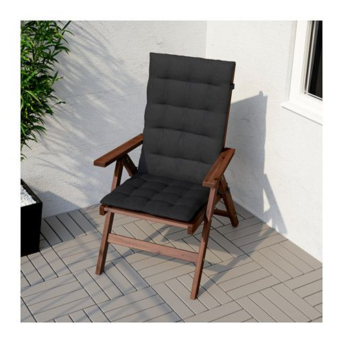 ÄPPLARÖ Reclining chair, outdoor - foldable brown stained, - - IKEA