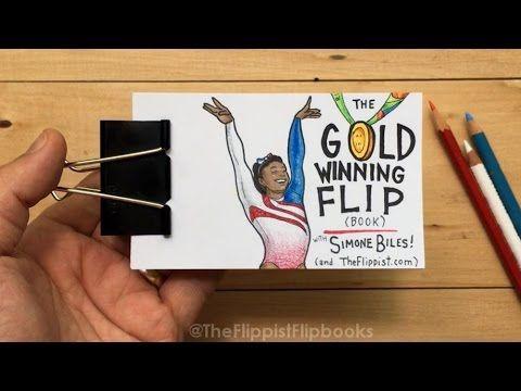 A Flipbook Animation of Olympian Simone Biles' Incredible Gold Winning Floor Exercise