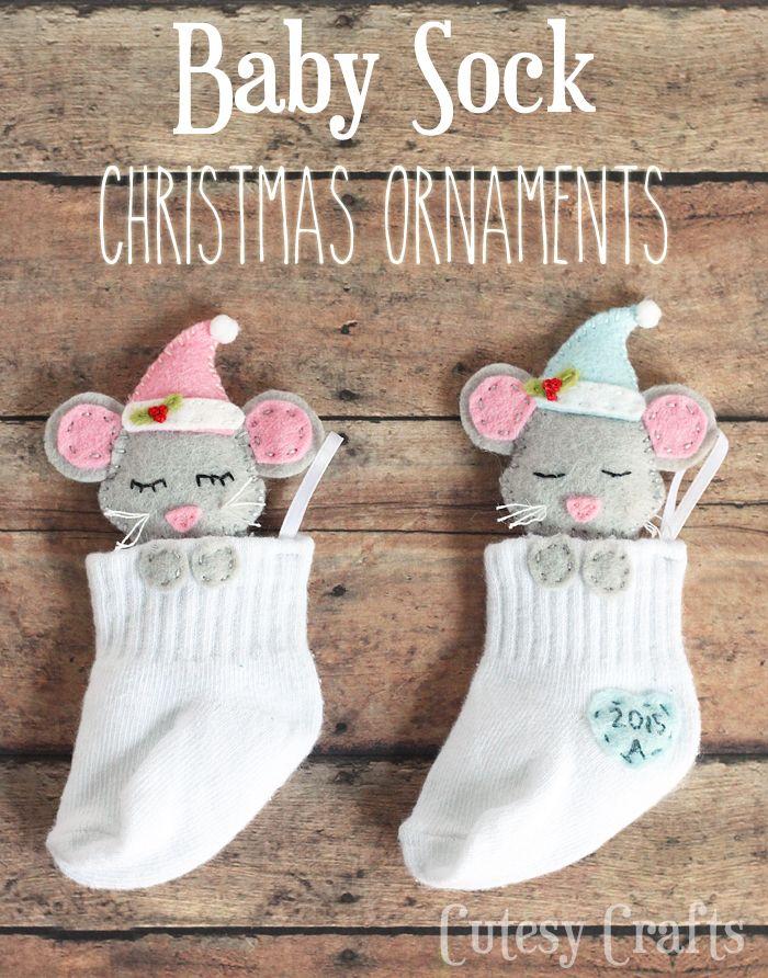 Un adorable souvenir à bricoler avec la chaussette de votre bébé!! - Bricolages - Des bricolages géniaux à réaliser avec vos enfants - Trucs et Bricolages - Fallait y penser !