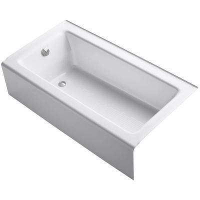 KOHLER Bellwether 5 ft. Left Drain Soaking Tub in White-K-875-0 - The Home Depot