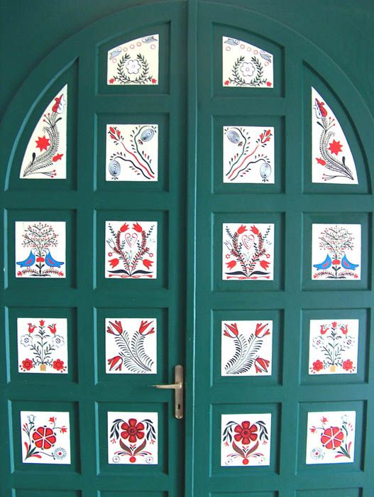 hungarian door. Looks almost like a quilt.