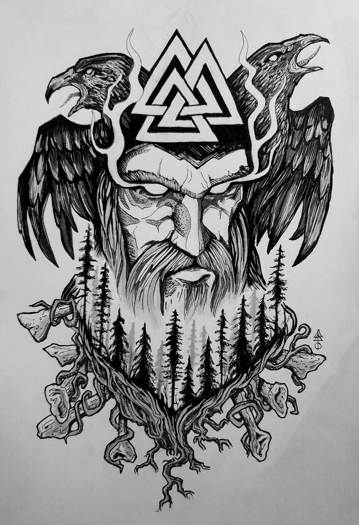Odin Tattoo Vikings Warriors In 2020 Norse Mythology Tattoo Norse Tattoo Viking Tattoo Symbol