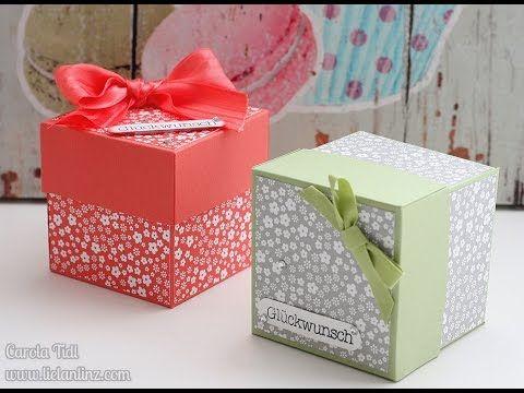 Anleitung: Box mit Deckel (6x6x6 cm) | Stampin' Up! - YouTube