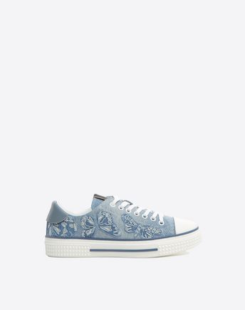 Are you looking for Valentino Garavani Denim Camubutterfly Sneaker? Find out all the details at Valentino Online Boutique and shop designer icons to wear.