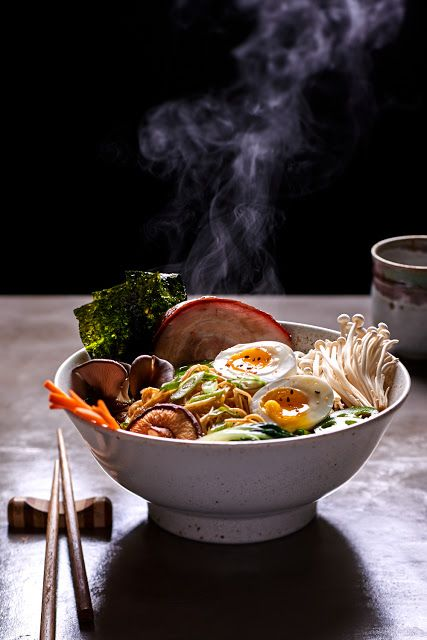 Good - great perspective, places you at the table like you are going to enjoy this big bowl of ramen
